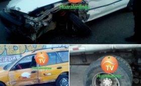 Triple choque entre dos autos y un camión cisterna en carretera de Huaral a Lima
