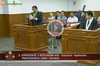 Se realizó audiencia en el JNE sobre el pedido de vacancia de alcaldesa y regidor de Huaral.