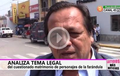 Analiza tema legal del cuestionado matrimonio de for Portal de chimentos dela farandula