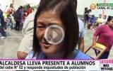 Alcaldesa lleva presente a alumnos del cebe N° 02 de Huaral y responde inquietudes de la población