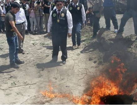 Huaura Estudiante llevó a PNP a lugar donde quemó restos del periodista José Yactayo