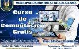 Municipalidad de Aucallama organiza curso gratis de computación