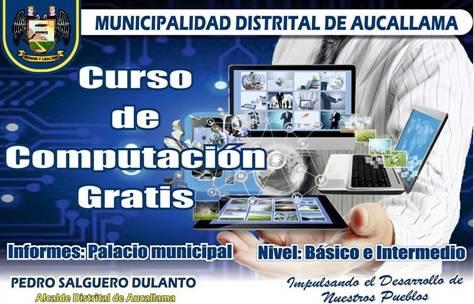 Municipalidad de aucallama organiza curso gratis de for Municipalidad de avellaneda cursos