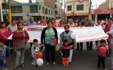 """Alcaldesa Anita Kobayashi y regidores de Huaral participaron en pasacalle de la mega campaña nacional """"Alto al Bullying y Pandillaje"""""""