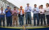 Gobernador Nelson Chui y ministro de transportes Martín Vizcarra realizaron reapertura del tránsito en puente Clarita