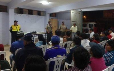Municipalidad de Huaral y la PNP continúan fortaleciendo la seguridad ciudadana de la mano con los vecinos vigilantes
