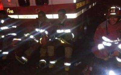 Bomberos de Huaral  44  apoyaron en incendio de las Malvinas