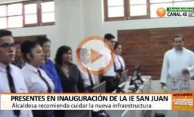 """Inauguran moderna infraestructura de la I.E 20826 """"San Juan Bautista"""" Huaral"""