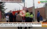 Reclaman por caída de cableado de luz en I.E. Antonio Graña Elizalde Huando – Huaral