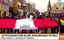 Actividades por el 196 aniversario patrio en Huaral