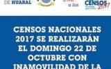 Censos Nacionales 2017 se realizarán  el domingo 22 de octubre con inamovilidad de la población.