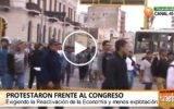 Construcción civil protestó frente al Congreso
