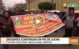 Docentes en Huaral continúan en pie de lucha