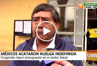 En Huaral médicos  acataron huelga indefinida