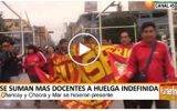 Se suman mas docentes a huelga indefinida en Huaral
