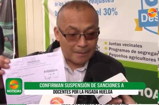 Suspenden sanciones a maestros que participaron en Huelga Magisterial